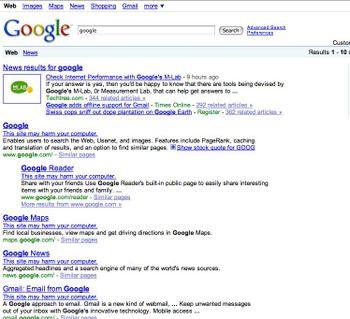 Site_may_harm_google