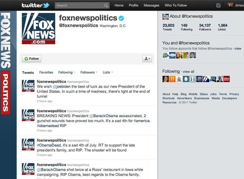 Fox twitter timeline