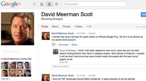 Googleplus dms