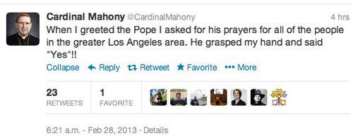 Mahoney tweet