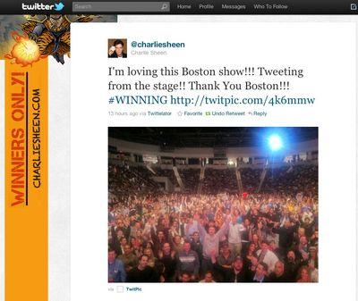 Boston show tweet