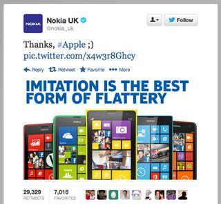 Nokia UK tweet