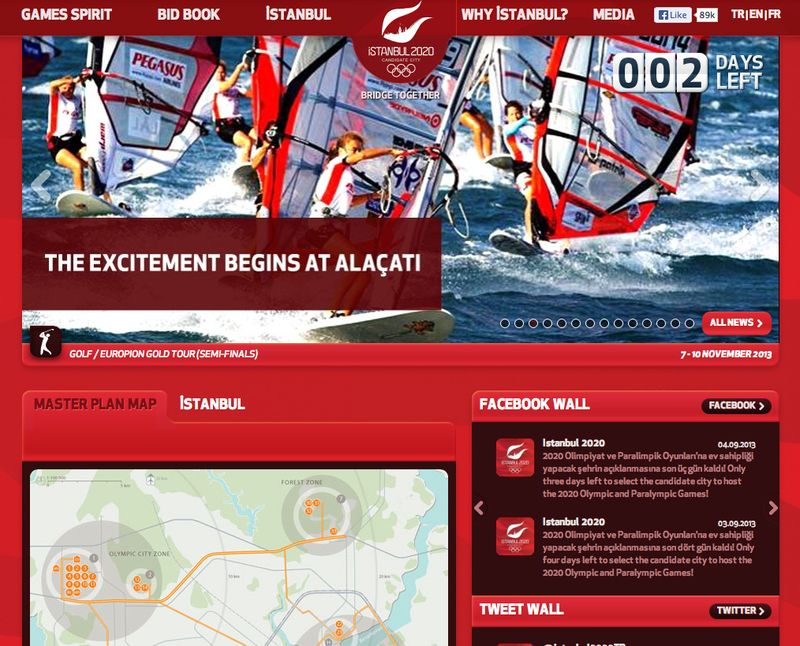 Istanbul 2020 homepage