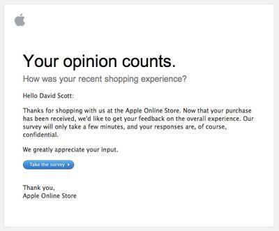 Apple survey