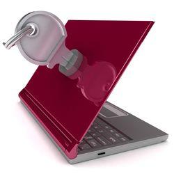 Locked computer