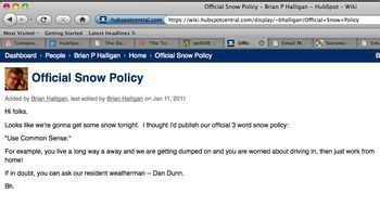 HubSpot snow policy