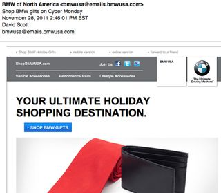 BMW email