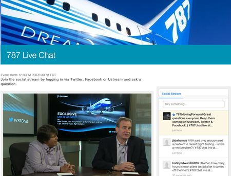 Boeing live chat