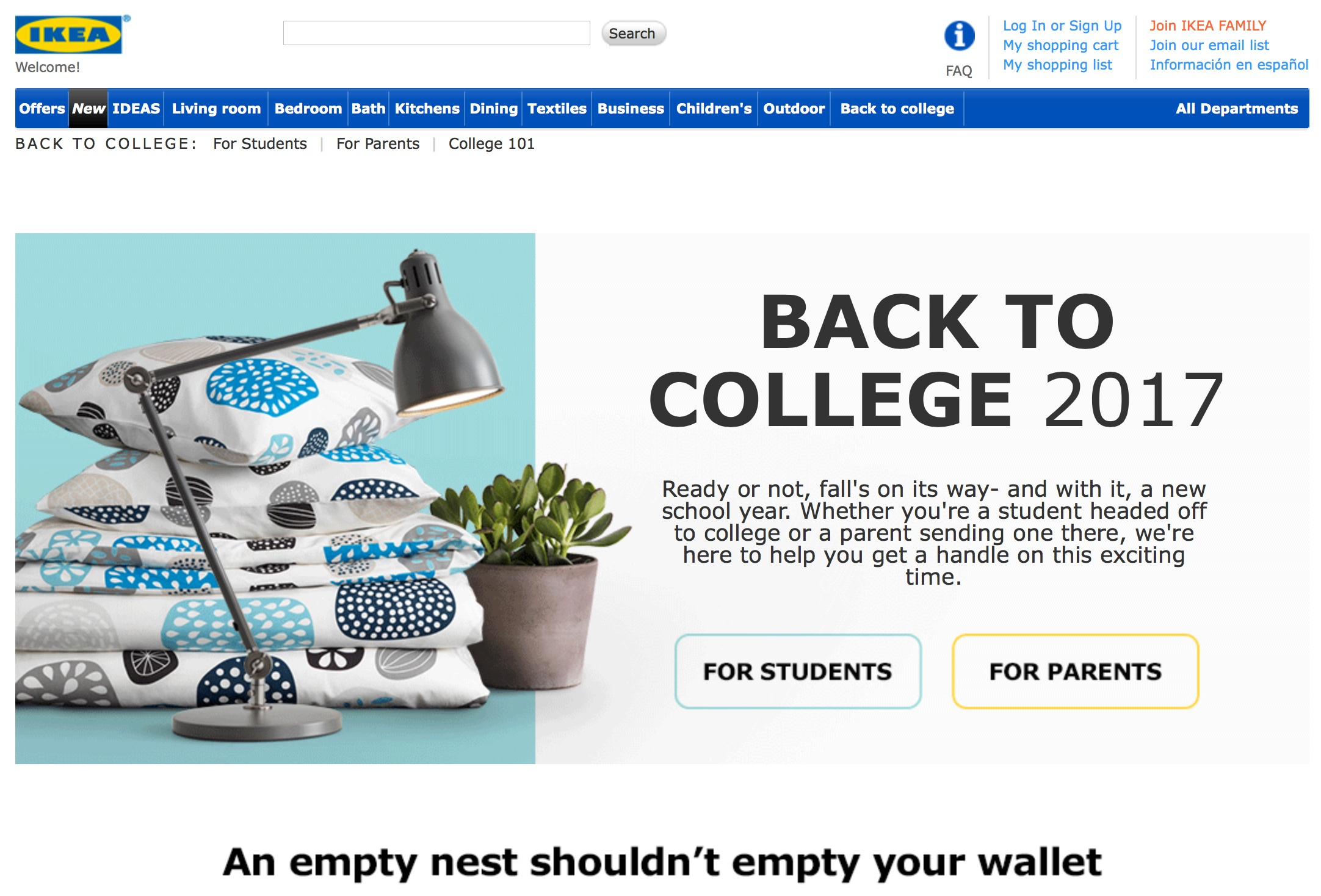 IKEA Back To College 2017 Microsite Includes Great Content For Both Students And Parents